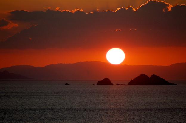 若狭湾の夕陽
