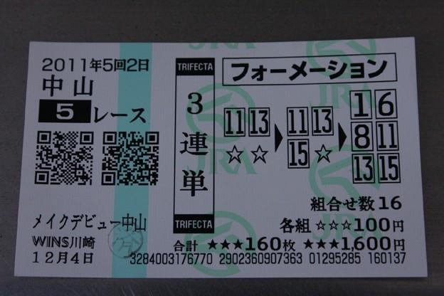 17 WINS川崎発行の勝ち馬投票券