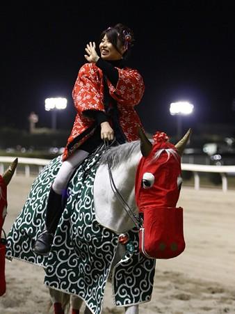 川崎競馬の誘導馬01月開催 獅子舞 赤半纏Ver-120103-06