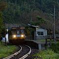 写真: のと鉄道 一番列車
