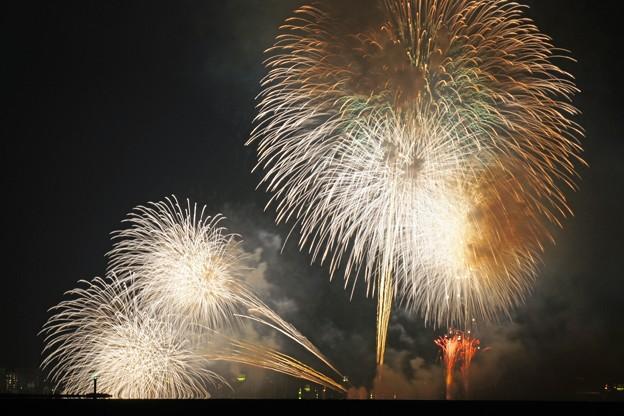 写真: 遠目の花火