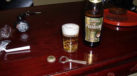 城崎荘にて 久々のビール