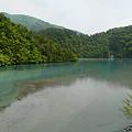 雨畑湖の吊り橋から見た景色