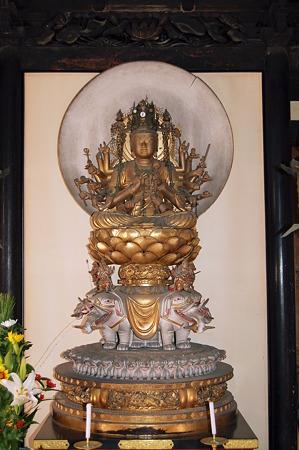 2012年01月09日長岳寺 普賢菩薩観音坐像