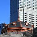 姿を現し始めた東京駅
