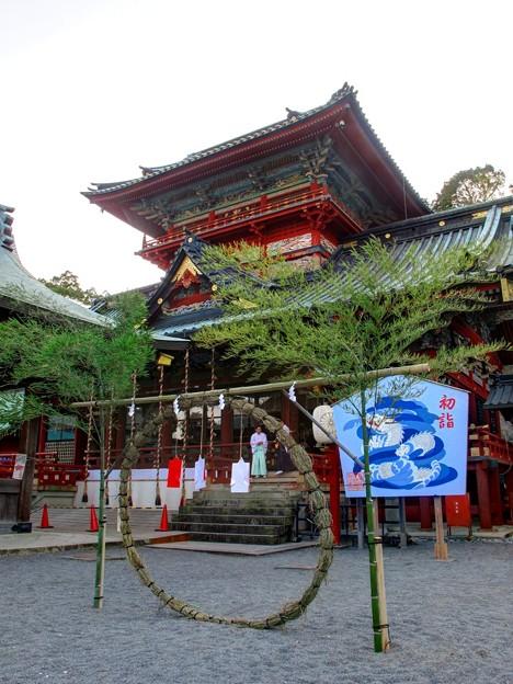 2011年12月31日 浅間神社 大拝殿前 茅輪