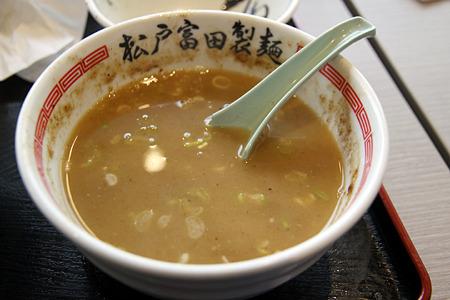 20120420_松戸富田製麺 つけそば(250g) スープ割り