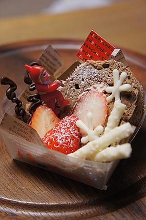 苺とチョコシフォンロール