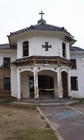 日本最古だという木造教会。...