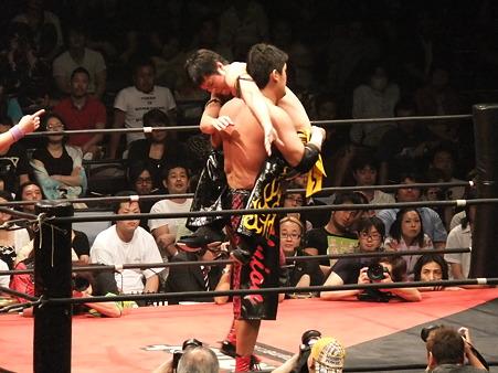 DDT 両国ピーターパン2011 〜二度あることは三度ある〜 KO-D無差別級選手権 石川修司vsKUDO (1)