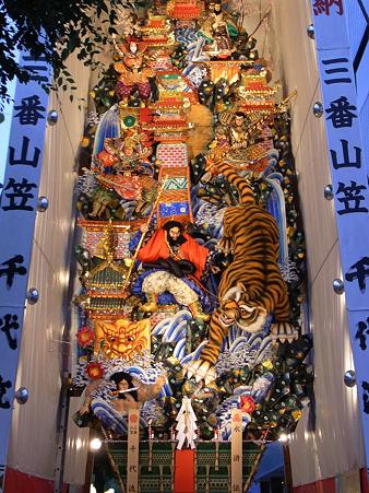 博多祇園山笠 2010 飾り山 千代流 水滸伝(すいこでん)1
