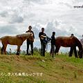 一家と馬2頭