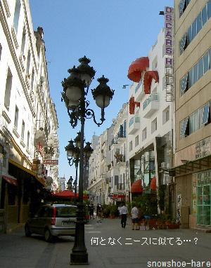 ブルギバ通りの横道