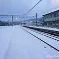 Photos: 朝の駅 雪景色 NEX-5 E18-55OSS