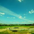 野球場と空