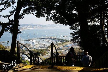 マリーナを望む参道・・江の島 sketch..12