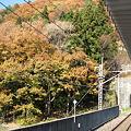 川治湯元駅ホームからの眺め