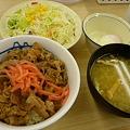 松屋牛めし(小)200円+野菜セット140円