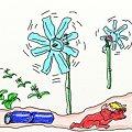 写真: ペットボトル風車