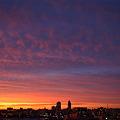 写真: 夕焼け空 古町方向