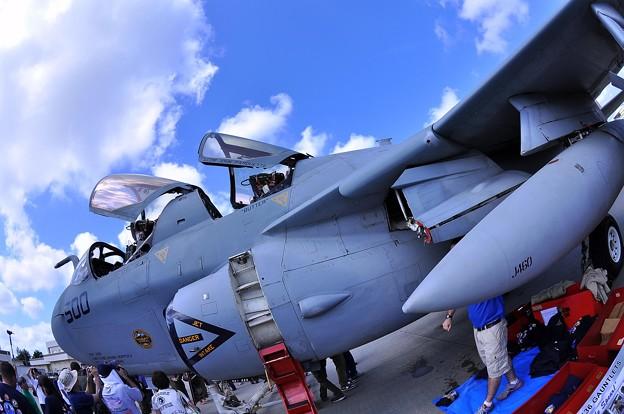 EA-6Bプラウラーを魚眼で