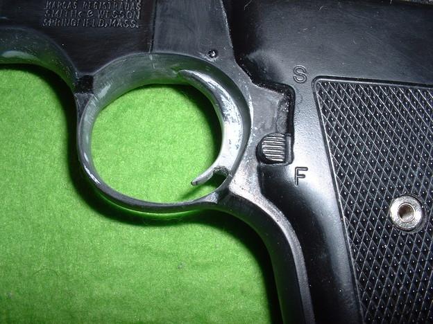 虎ビス屋 実銃型取り「S&W M61 エスコート」 プラ板にて引き金の形を修正 Doburoku-TAO